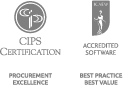 CIPS Certification: Procurement Excellence. ICAEW Accredited Software: Best Practice, Best Value.